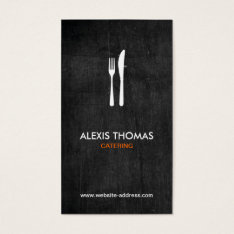 Fork & Knife Logo For Catering, Chef, Restaurant Business Card at Zazzle