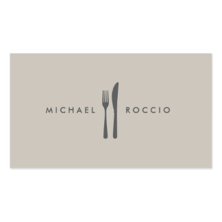 Fork & Knife Logo for Chef, Foodie, Restaurant Double-Sided Standard Business Cards (Pack Of 100)