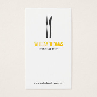 FORK & KNIFE LOGO for Restaurant, Chef, Catering Business Card