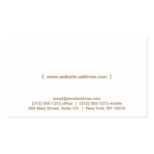 FORK & KNIFE LOGO on LUXE WOOD Business Card (back side)