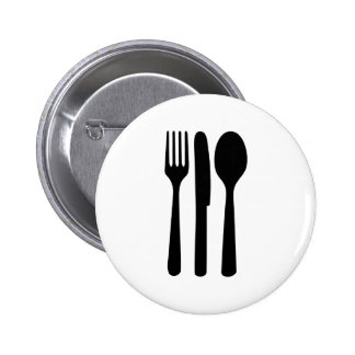 fork knife spoon icon button