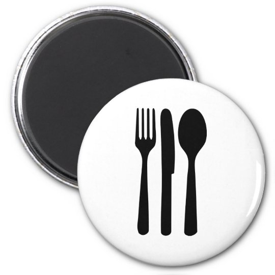 fork knife spoon icon magnet