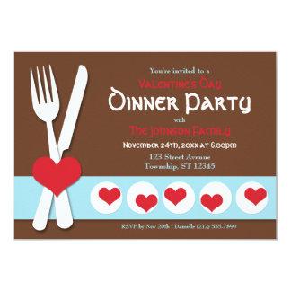Fork & Knife Valentine's Day Dinner Invitation