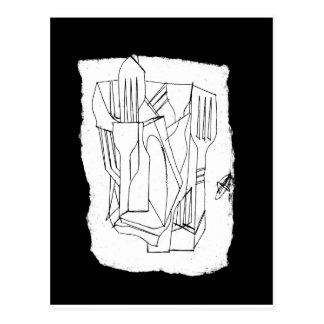 fork & knives postcard