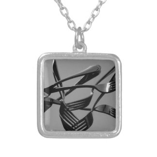 Fork Levitation Silver Plated Necklace