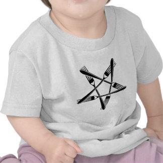 Fork Pentagram (black) Tee Shirts