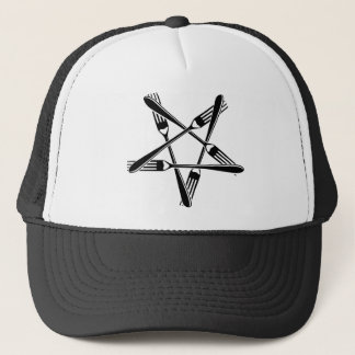 Fork Pentagram (black) Trucker Hat