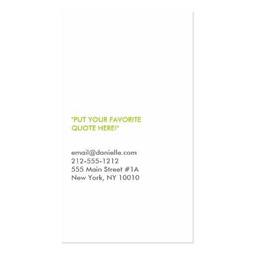 FORK SPOON KNIFE in GRAY Business Card (back side)