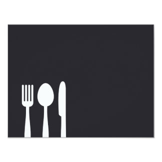 Fork Spoon Knife Personal Stationery/Notecard Card