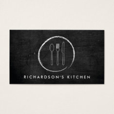 Fork Spoon Knife Sketch Logo For Catering, Chef... Business Card at Zazzle