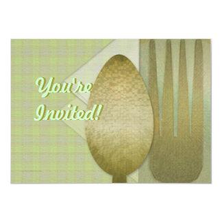 Fork Spoon Napkin Dinner Invitation