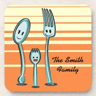 Fork+Spoon=Spork Drink Coaster