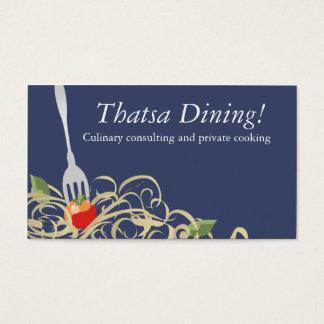 fork stuck tomato spaghetti catering b, Thatsa ... Business Card