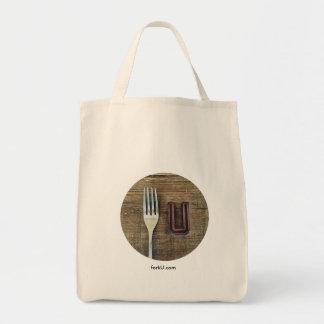 fork U grocery bag