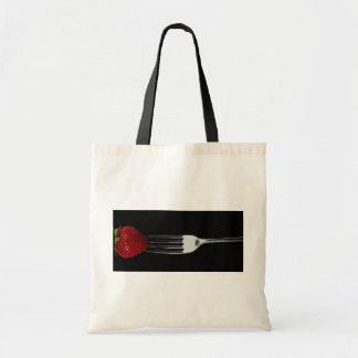 Fork with strawberry tote bag