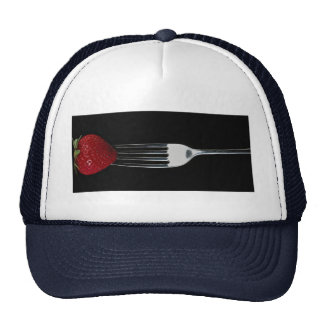 Fork with strawberry hats