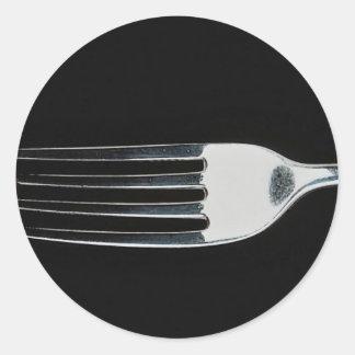 Fork with strawberry sticker