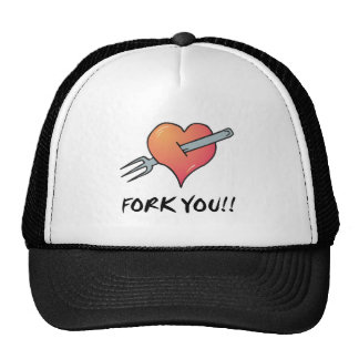fork you trucker hat
