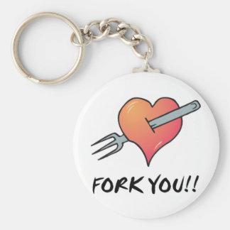 fork you keychain