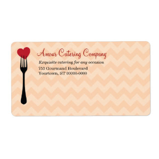 Forked Heart Restaurant/Catering Shipping Shipping Label