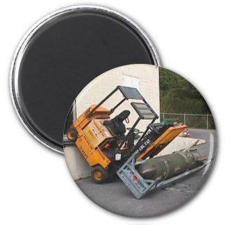 Forklift and Bomb Magnet