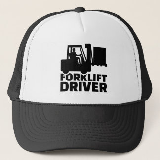 Forklift driver trucker hat