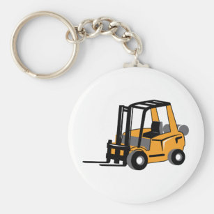 Forklift Keychains No Minimum Quantity Zazzle