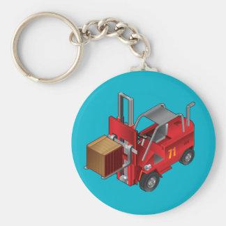 Forklift, Kids Pallet Truck Design Basic Round Button Keychain