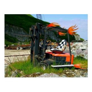 Forklift Scrap Metal Sculpture Postcards