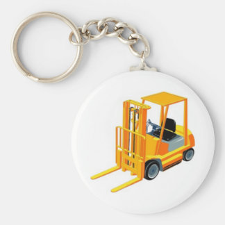 Forklift Truck (a.k.a. Lift Truck/Fork Truck) Basic Round Button Keychain
