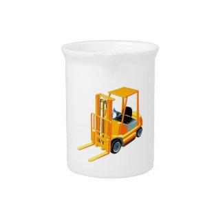 Forklift Truck (a.k.a. Lift Truck/Fork Truck) Drink Pitcher