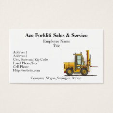 Forklift Truck Business Cards at Zazzle