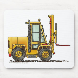 Forklift Truck Construction Mouse Pad
