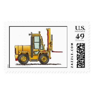 Forklift Truck Construction Stamps