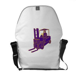 Forklift Truck Mono Line Messenger Bag