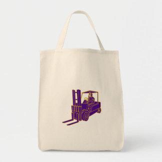Forklift Truck Mono Line Tote Bag