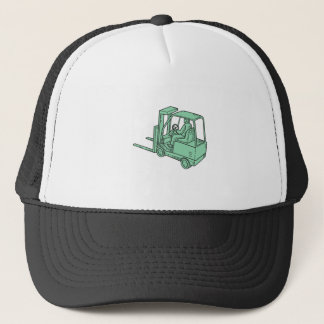 Forklift Truck Operator Mono Line Trucker Hat