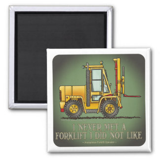 Forklift Truck Operator Quote Magnet
