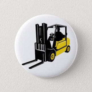 forklift truck retro pinback button
