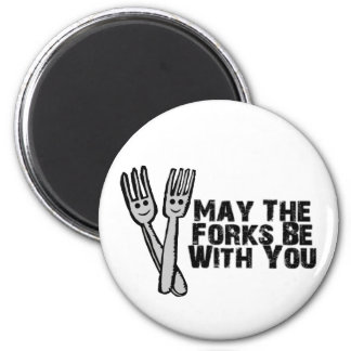 Forks Be With You 2 Inch Round Magnet