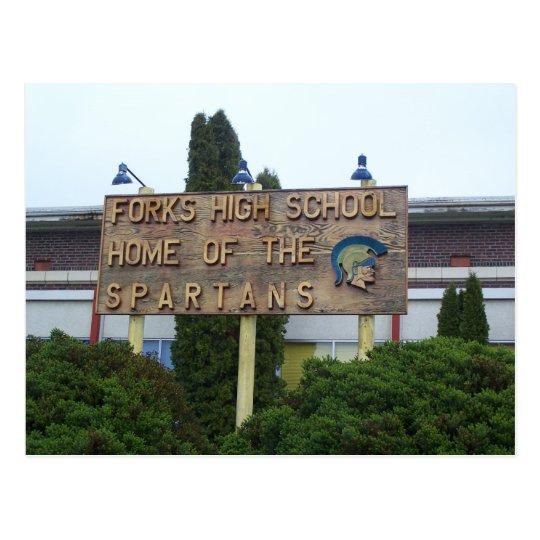 Forks High School Postcard