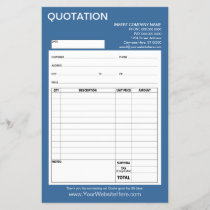 Form - Business Quotation or Invoice