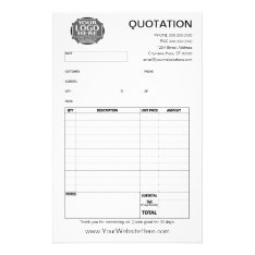 Form - Business Quotation Or Invoice Flyer at Zazzle