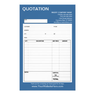 Form - Business Quotation or Invoice Flyer