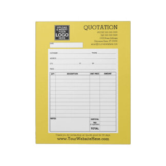 Form - Business Quotation or Invoice Note Pad