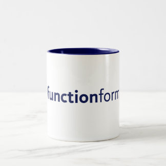 Form Follows Function Two-Tone Coffee Mug