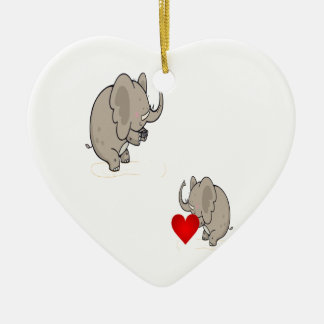 form of love on Valentine's Day Ceramic Ornament