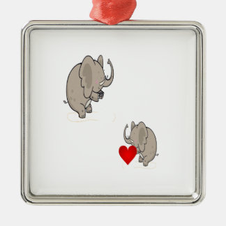 form of love on Valentine's Day Metal Ornament