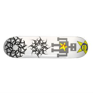 form of the robot skate board decks