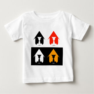 Form of vase created from 2 faces inside a house baby T-Shirt